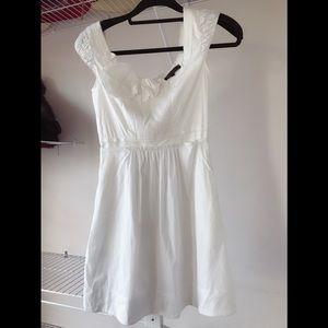 BCBG summer linen dress with rosette detail